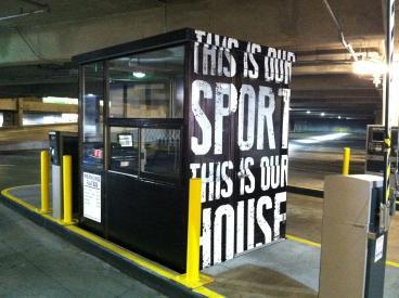 Parking Garage Signage at NHOF, Uptown Charlotte, NC