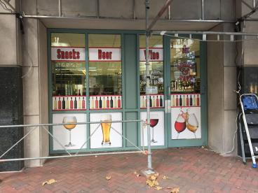 Store Front Windows for Corks & Caps in Norfolk