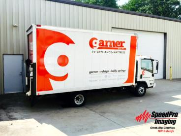 Garner Appliance gets New Graphics for their Box Trucks