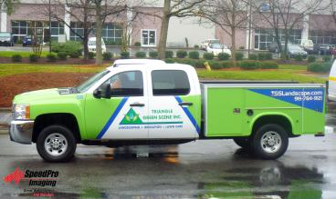 Triangle Green Scene Utility Trucks get New Graphics