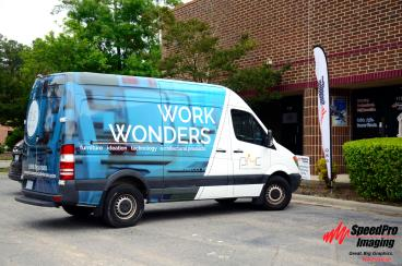 Sprinter Van Wraps Recently Installed for PMC Commercial Interiors