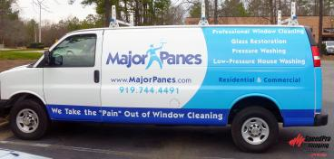 New Graphics for Major Panes Cargo Vans
