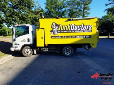 Vehicle Graphics on Junk Doctors Dump Trucks