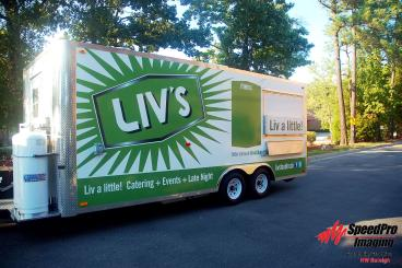 Full Wrap on Trailer for Liv's Catering