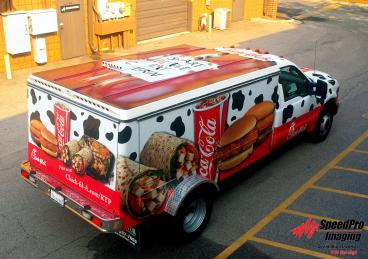 Chick-fil-a Lunch Truck gets a Full Wrap, Including Top of Vehicle