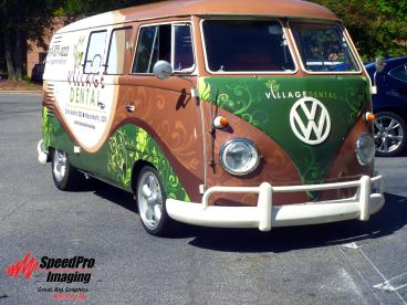 Microbus Wrapped for Village Dental