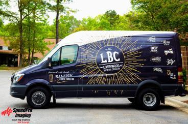 Graphics on Mercedes Sprinter Van for Lynnwood Brewing Concern