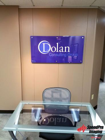 Dolan gets Acrylic Sign