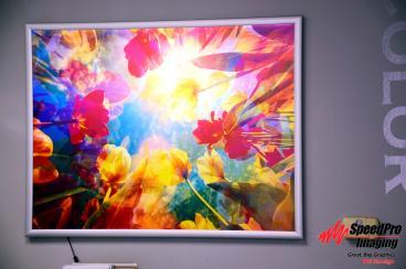 Speedpro RDU's new Backlit Snap Frame Print