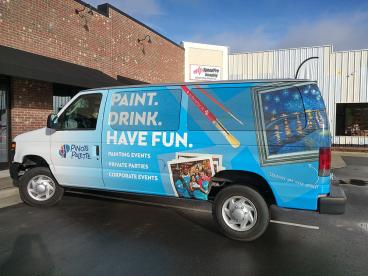 Vehicle Wrap for Pinot's Palette in Apex, NC