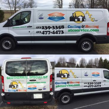 Van Decals for ATC Cooling and Heating