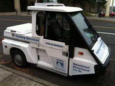 City of Spokane Parking Interceptor reflective graphics