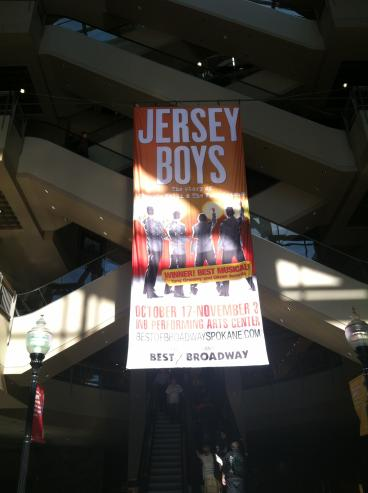 Jersey Boys River Park Square Hanging Banner