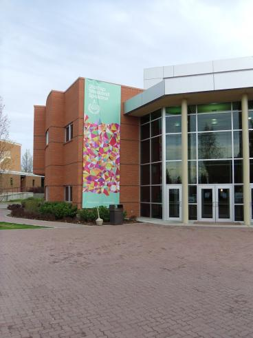 Building Banner at Gonzaga University