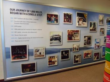 Full wall banner system Time Warner Communications