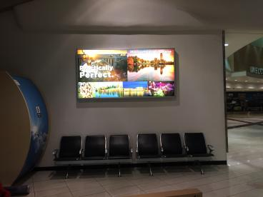 Backlighted advertising displays