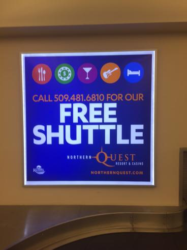NG Shuttle lighted sign