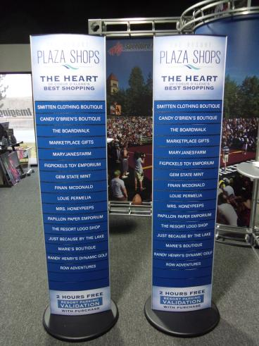 Directional retail sign displays