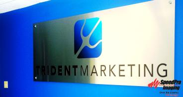 Metal Laminated Acrylic Sign for Trident Marketing