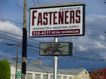 Fasteners Lighted Sign