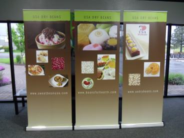 Beans USA banner stands for RDesign