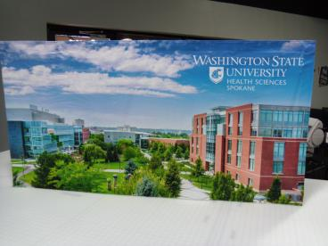 WSU Tabletop Tension Fabric Display