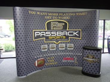 Passback Sports Coyote Booth Display