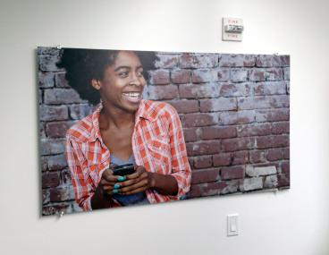 Office decor, indoor graphics on acrylic in New York City.