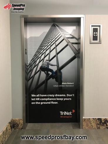 Branded elevator wrap