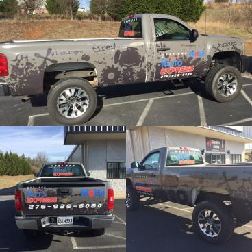 Truck Wrap for West End Auto Express