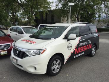 Universal City Nissan Vehicle Half Wrap