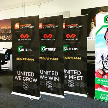 United Sports Brands Retractable Banner Stands