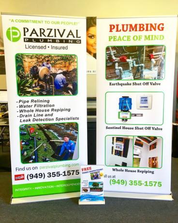Parzival Plumbing Retractable Banner Stands