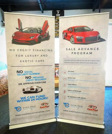 Evan Paul Auto Capital Retractable Banner Stand