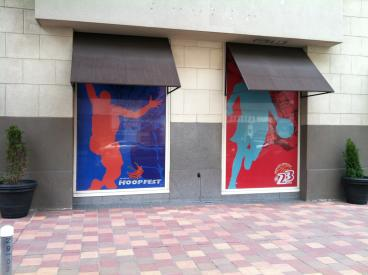 Hoopfest window graphics