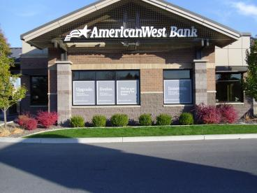 AmericanWest Bank window graphics