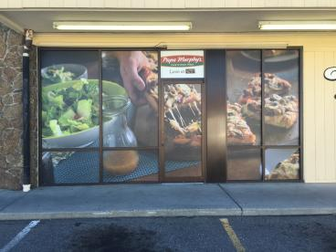 Papa Murphy's window graphics