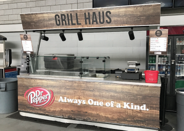 Dr. Pepper Cart Wrap at Soldier Field - Chicago