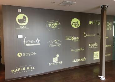 S2G Ventures Logo Wall: Cut Vinyl Graphics