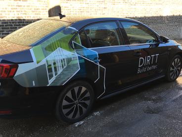 Dirtt: Vehicle Cut Vinyl Graphics + Window Perforated Vinyl Graphics