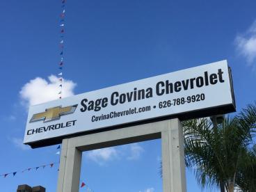 Sage Covina Chevrolet Pylon Banners
