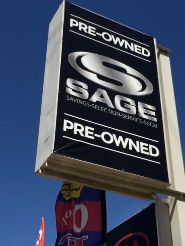 Sage PreOwned Pylon Banner