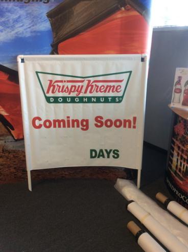 Krispy Kreme Doughnuts Banner