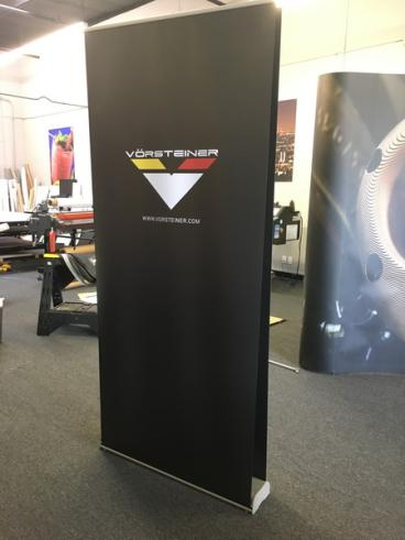 Vorsteiner Full Black Retractable Double Sided Banner Stand