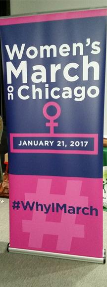 Women's March Retractable Banner