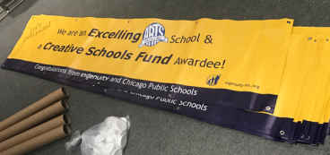 Vinyl Banners for Ingenuity and Chicago Public Schools