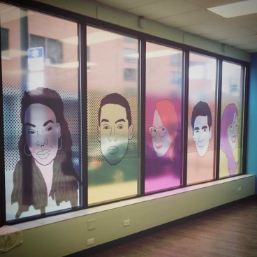 Clear Vinyl Graphics at Howard Brown's Broadway Youth Center