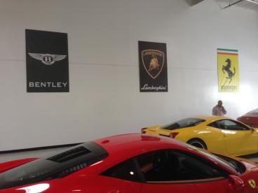 Jeffrey Cheng Ferrari and Vehicle Brand Banners