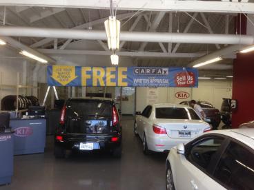 Sage Kia Dealership Hanging Banners