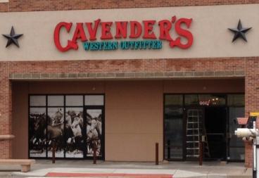 Denver, CO window graphic cavenders horses